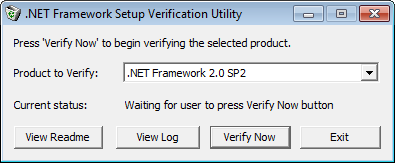 .NET Framework Setup Verification Tool